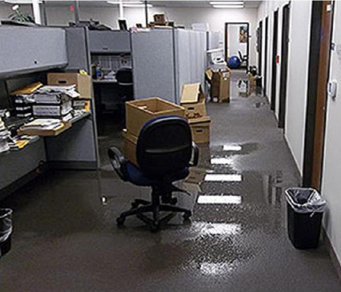 flooded office cubicles