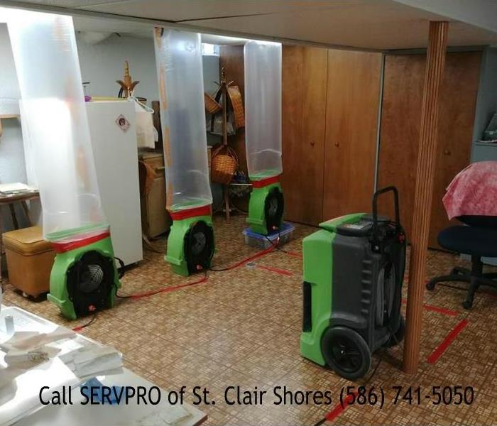 Water Damage Flooded Basement in Clinton Township, MI