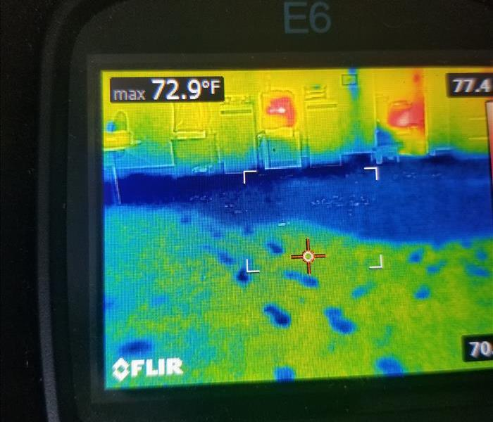 Thermal Camera of wet commercial floor